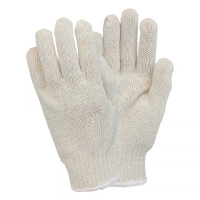 COTTON M.W. STRING KNIT GLOVE LG 12/PK