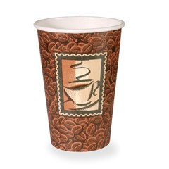 16 OZ PAPER HOT DRINK CUP - JAVA - 1M/CS