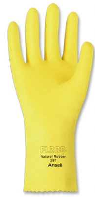 LARGE RUBBER (LATEX) GLOVES-YELLOW 144/C
