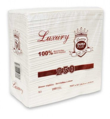 LUX 1 PLY DINNER NAPKIN - 10 X 300/CS