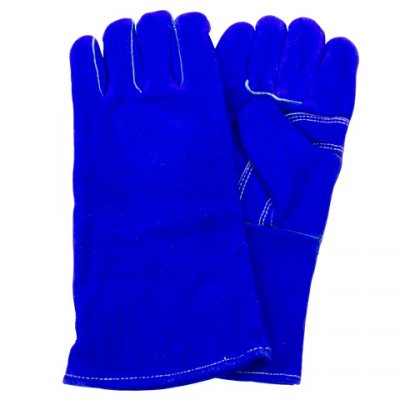 BLUE LEATHER WELDERS GLOVE