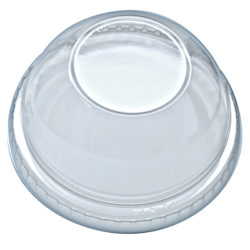 DOME LID W/HOLE FOR 16-24 OZ CUP-10x100