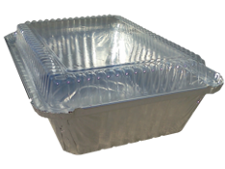 PLASTIC DOME LID FOR 2.25 LB OBLONG 10/P