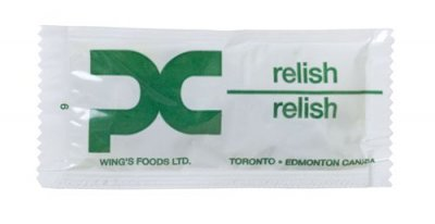 WINGS PORTION RELISH 500/CS