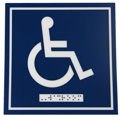 WASHROOM SIGN - WHEELCHAIR ONLY - W/BRAI