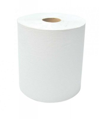 WHITE ROLL TOWEL - 6 X 800'