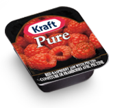 KRAFT RASPBERRY JAM PORTIONS 140/10ML