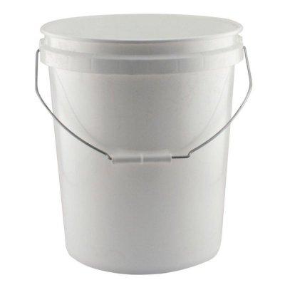 20L PLASTIC PAIL - NO LID - WHITE