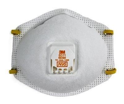 3M N95 PARTICULATE RESP. W/VALVE - 10/BX