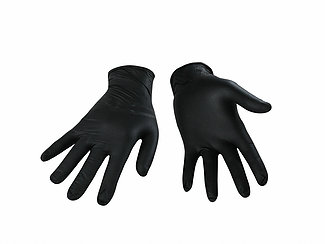 BLACK NITRILE GLOVE-6 MIL-LARGE - 100/BX
