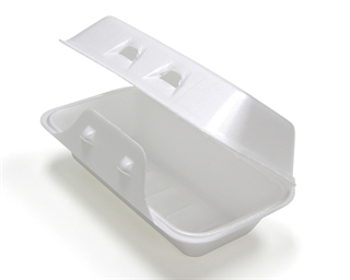 FOAM HINGED LID CONT - 8X5X3 - 220/CS