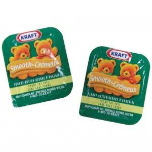 KRAFT PEANUT BUTTER PORTIONS 200/CS