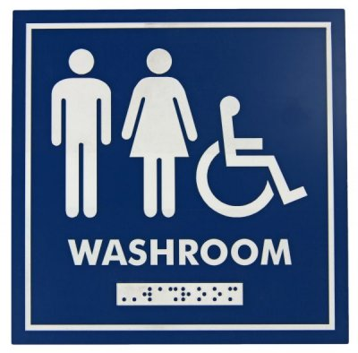 WASHROOM SIGN - MALE, FEMALE, WHEELCHAIR