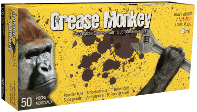 GREASE MONKEY BLACK 8 MIL - XXL - 50/BX