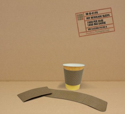 CORRUGATED PAPER HOT CUP SLEEVE - 1350/C