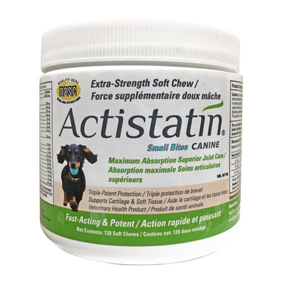 ACTISTATIN - SMALL DOG CHEW - 120 COUNT