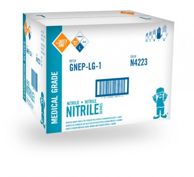 BLUE NITRILE EXAM GLOVE PF - XL-1000/CS