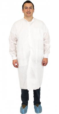 WHITE LAB COAT SMS50 POLY - 3XL - 30/C