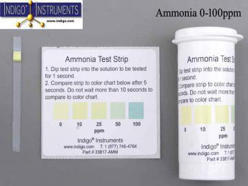 AMMONIA TEST STRIPS 0-100PPM - 25/PK