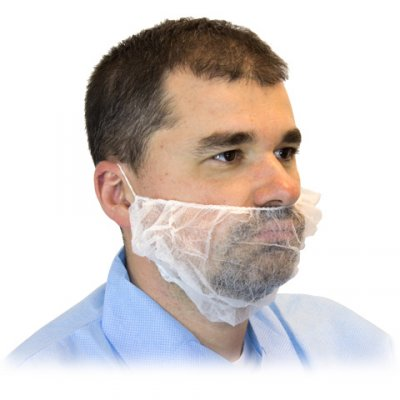 BEARD COVER - WHITE - 19