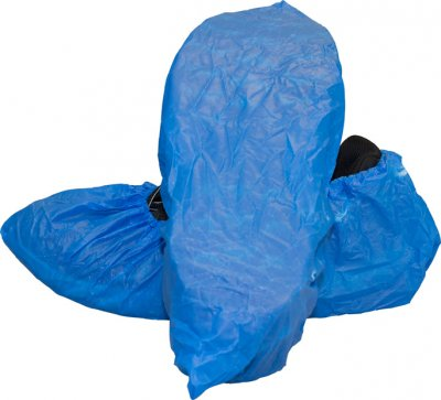 BLUE NON-SKID POLY SHOE COVER XL 300/CS