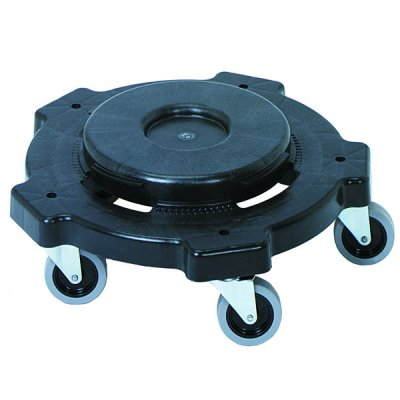 GREY PLASTIC DOLLY W/3
