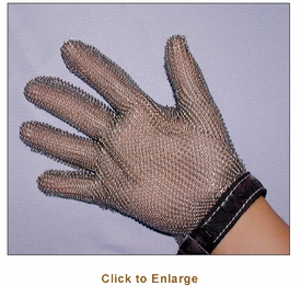 S/S MESH GLOVE - LARGE - BLUE STRAP
