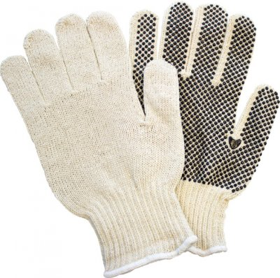 STRING KNIT GLOVE-PVC DOT-1 SIDE-MED
