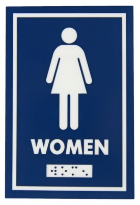 WASHROOM SIGN - FEMALE - W/ BRAILLE