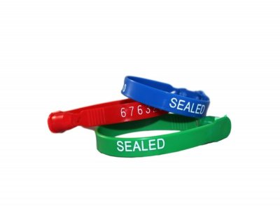 PLASTIC TRUCK SEAL - RED - 1M/CS