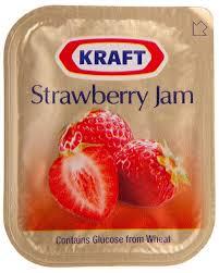 KRAFT STRAWBERRY JAM PORTIONS 140/10ML