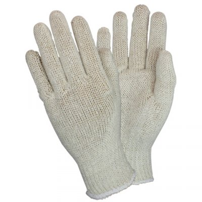 COTTON L.W. STRING KNIT GLOVE MED 12/PK
