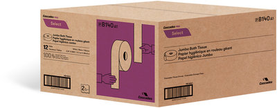 SELECT JUMBO 2PL TOILET TISSUE 12X1000'