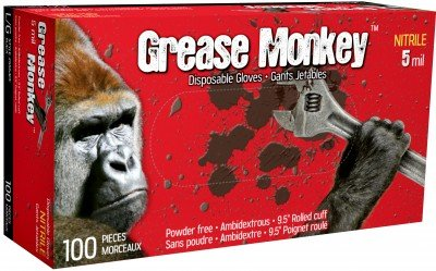 GREASE MONKEY BLACK 5-MIL - L - 100/BX