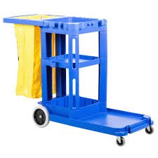 STANDARD JANITORS CART - BLUE