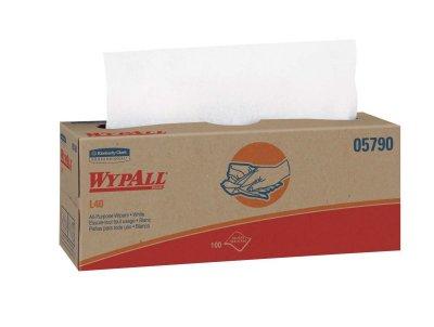 WYPALL - L40 - POPUP WHITE 9 X 100 / CS