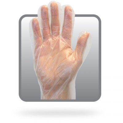 CLEAR HIGH DENS POLY GLOVE - M - 100/BX